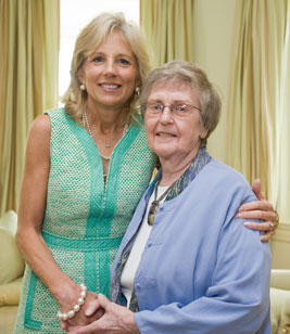 Phyllis Connelly meets Dr. Jill Biden.