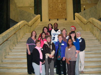 Coalition Advocates head to Albany in 2010.