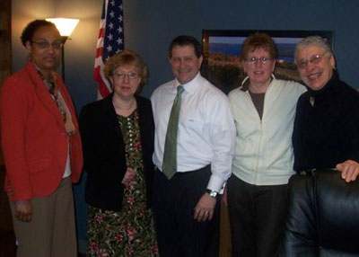 Coalition members meet with Assemblymember Joe Morelle.