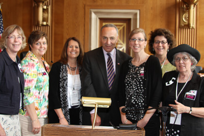 Sen. Schumer with Coalition Advocates.