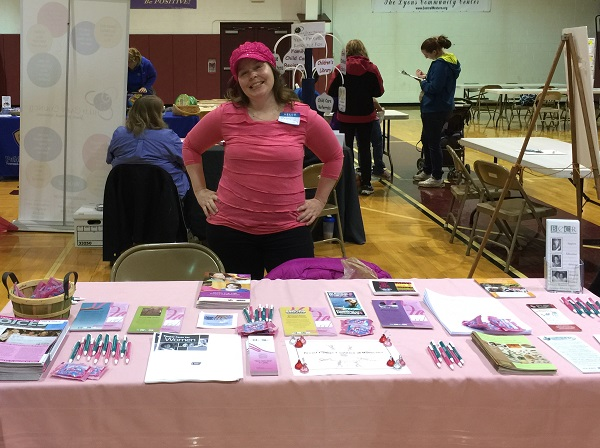Patty helps the Coalition by staffing a health fair table in Lyons NY