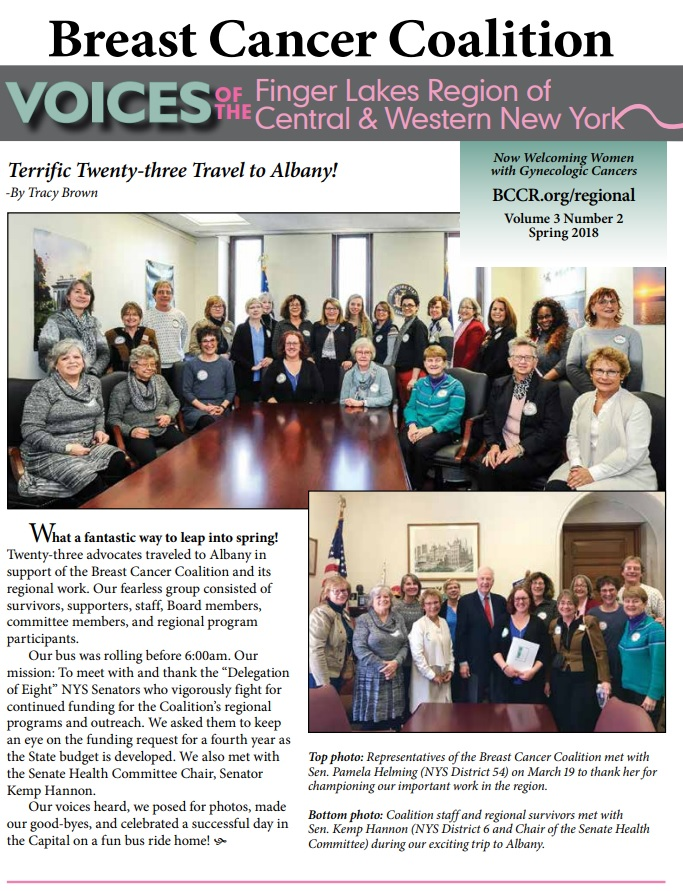 Newsletter for Upstate NY Breast Cancer Survivors