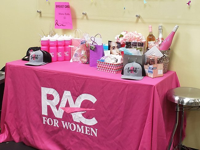 RAC for Women hosted a class sampler and raised money for the Coalition.