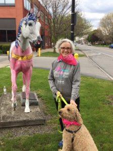 Kathy G and dog
